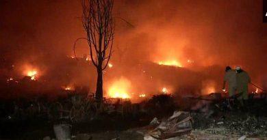 700 slums caught in fierce fire in Tughlakabad area of Delhi