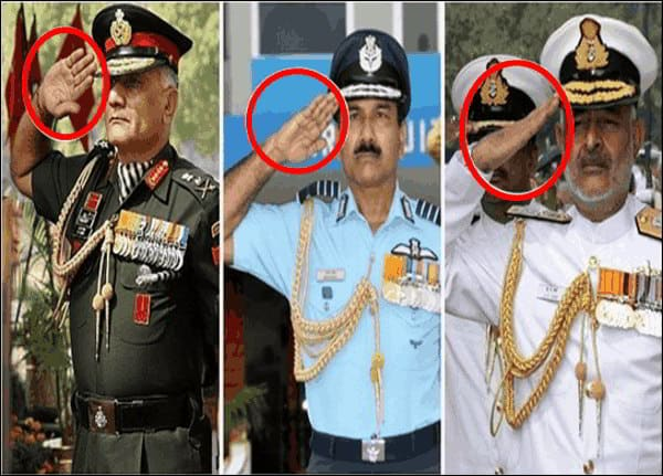 Know why the three army soldiers do different ways