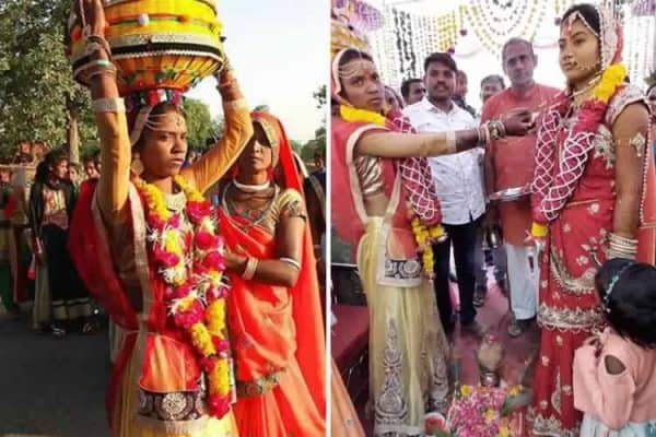 A unique wedding takes place in this village, the groom takes his sister's place with the bride seven ways to know how