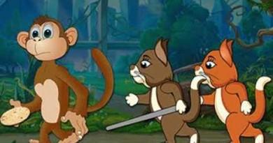 दो बिल्लियां और चालाक बंदर बढ़िया मजेदार कहानी